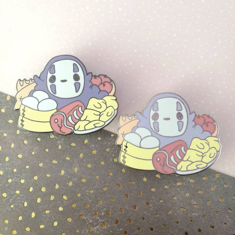 No Face - Hard Enamel Pin -- Ghibli Snacks Collection - Kittynaut
