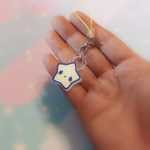 Kawaii Little Star: 2 sided acrylic charm - Kittynaut