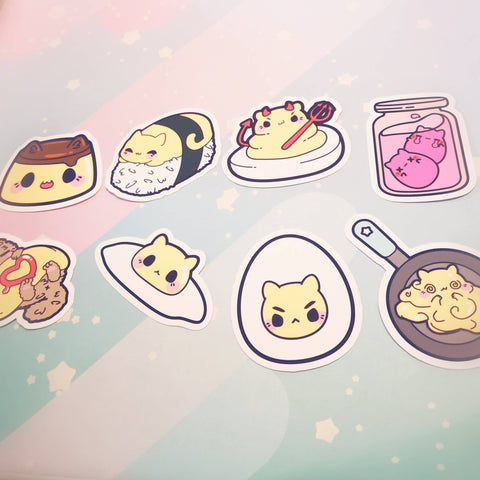 Egg Kitties : Die Cut Stickers - Kittynaut