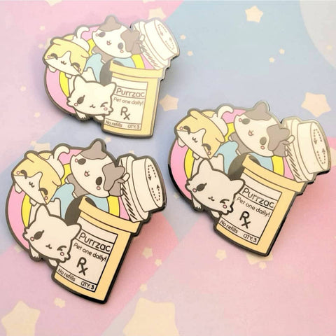 Purrzac - Kawaii Medical Pins Series - Hard Enamel Pins - Kittynaut