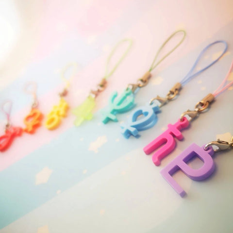Pastel Planetary Symbols - Charms and Earrings - Kittynaut