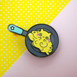 Scambled Egg Spinner Pin - Egg Kitties  - Hard Enamel Pins Series - Kittynaut