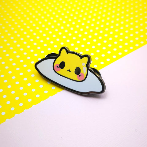 Sunnyside Up - Egg Kitties  - Hard Enamel Pins Series - Kittynaut