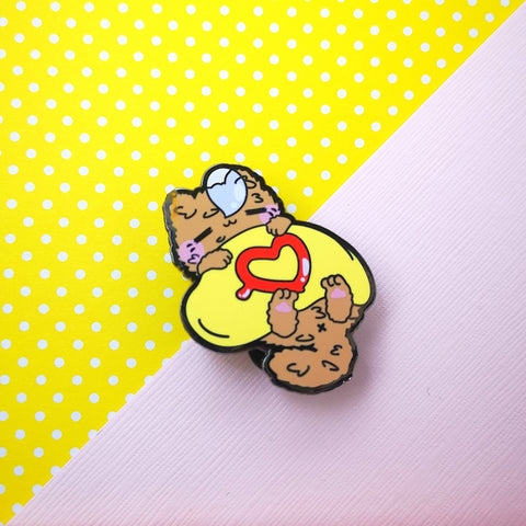 Omurice Sleepy Kitty - Egg Kitties  - Hard Enamel Pins Series - Kittynaut
