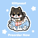 Surfin' Pupper Hard Enamel Pin - Kittynaut