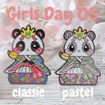 Lady Panda: Girl's Day Animal Enamel Pins