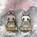 Flutist Bunny: Girl's Day Animal Enamel Pins - Kittynaut