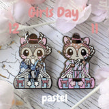 Minister Fawn: Girl's Day Animal Enamel Pins