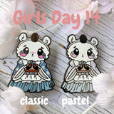 Helper Polar Bear: Girl's Day Animal Enamel Pins - Kittynaut