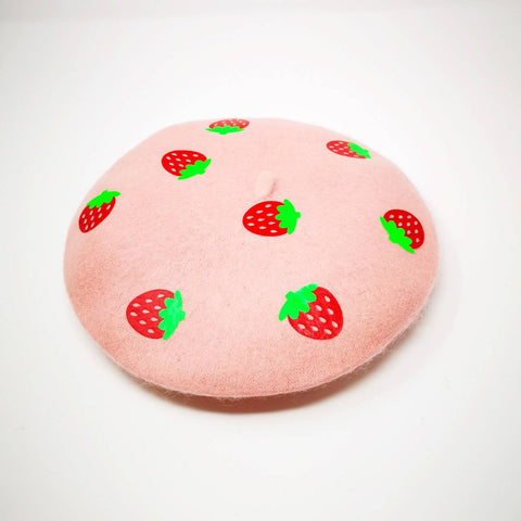 Strawberry Beret - Kittynaut