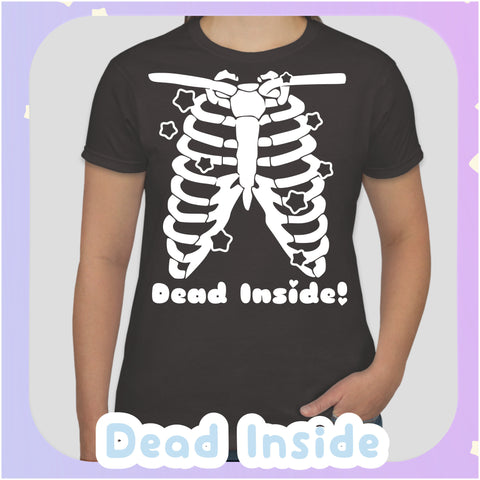 Dead Inside -- Tee Shirt - Kittynaut