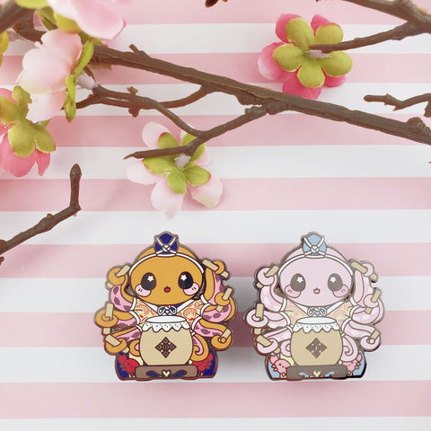 Taiko Octopus: Girl's Day Animal Enamel Pins