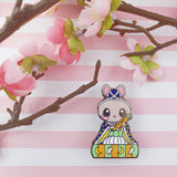 Flutist Bunny: Girl's Day Animal Enamel Pins