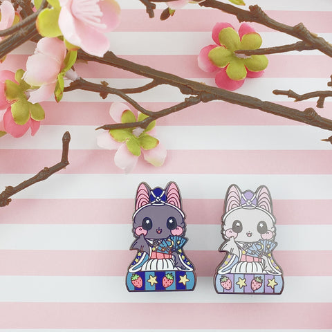 Musician Bat: Girl's Day Animal Enamel Pins