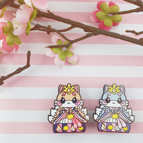 Lady Kitsune: Girl's Day Animal Enamel Pins - Kittynaut