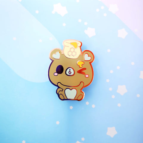 Bear + Honey -- Hard Enamel Pin -- Favorite Snacks Collection