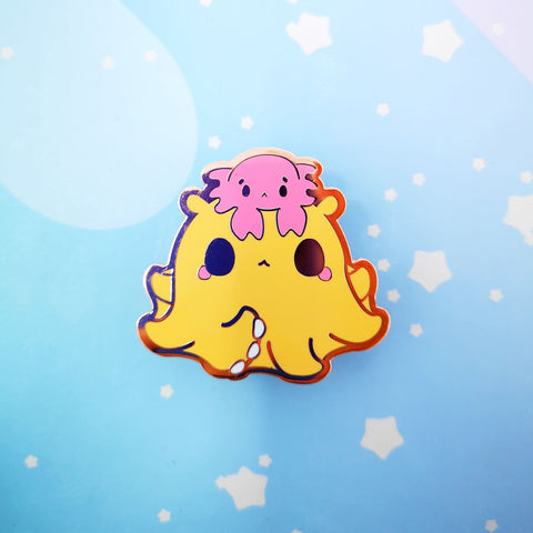 Octopus + Crab -- Hard Enamel Pin -- Favorite Snacks Collection - Kittynaut