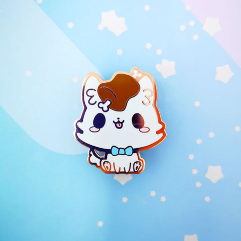 Puppy + Meat -- Hard Enamel Pin -- Favorite Snacks Collection - Kittynaut