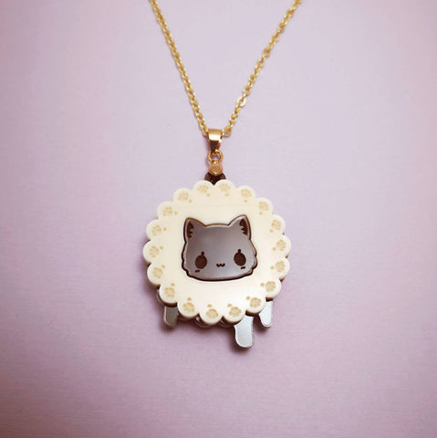 Cookie Biscuit Kitty - Necklace