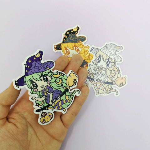 Lil Witches : Die Cut Stickers - Kittynaut