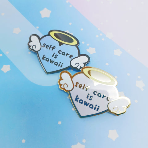 Self Care Heart -- Hard Enamel Pin -- Kawaii Medical Pins Series - Kittynaut