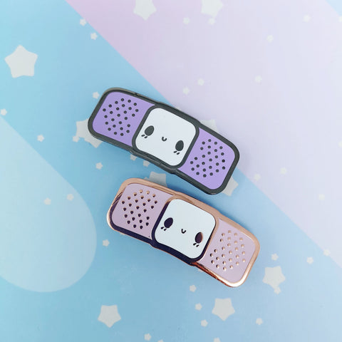 Bandaid Buddy -- Hard Enamel Collar Pin -- Kawaii Medical Pins Series