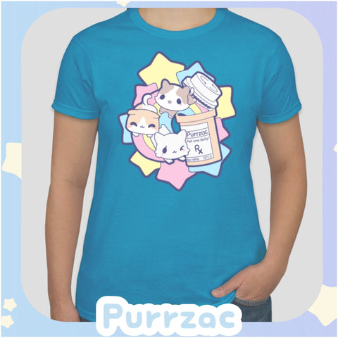 Purrzac Kitties -- Tee Shirt - Kittynaut