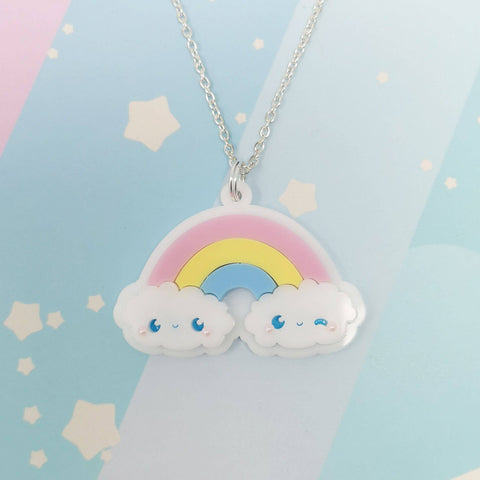 Cute Rainbow Necklace -- Handmade Jewelry - Kittynaut