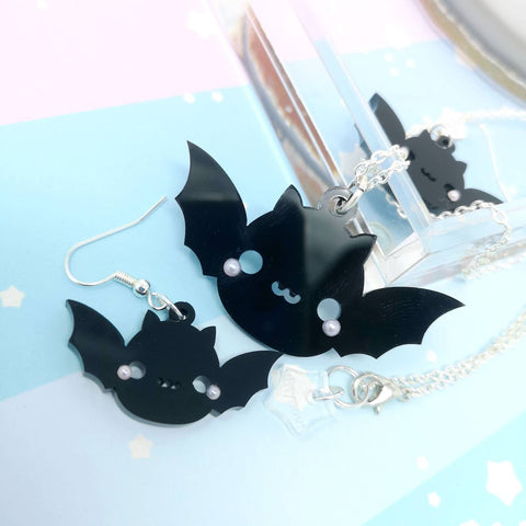 Kawaii Bat - Earrings and Necklaces
