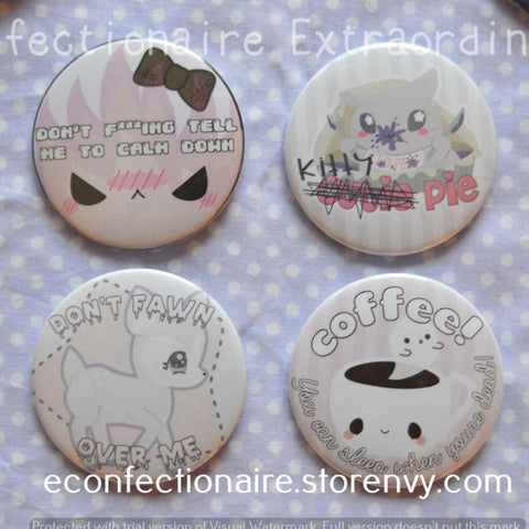 Pastel Pink Series -- Buttons