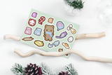 Gingerbread Kitty - Sticker Sheets - Kittynaut
