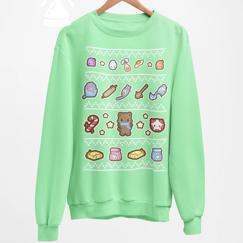 Gingerbread Kitty -- Sweatshirt - Kittynaut