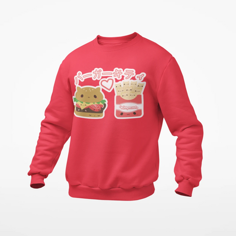 Burger Kitty - Sweatshirt - Kittynaut