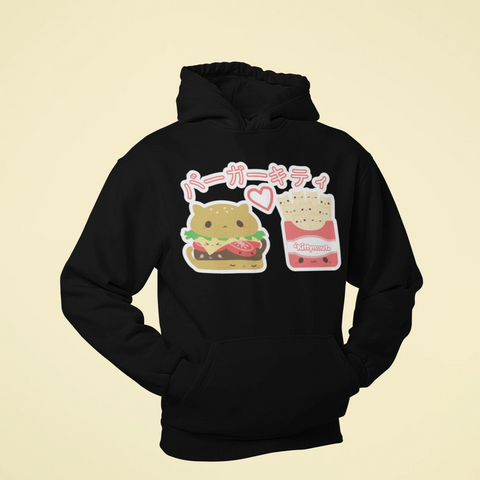 Burger Kitty - Hoodie - Kittynaut