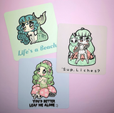 Monster Girls -- Mini-Prints - Kittynaut