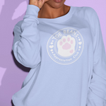 Toe Beans Appreciation Club -- Sweatshirt with Paw Sleeves