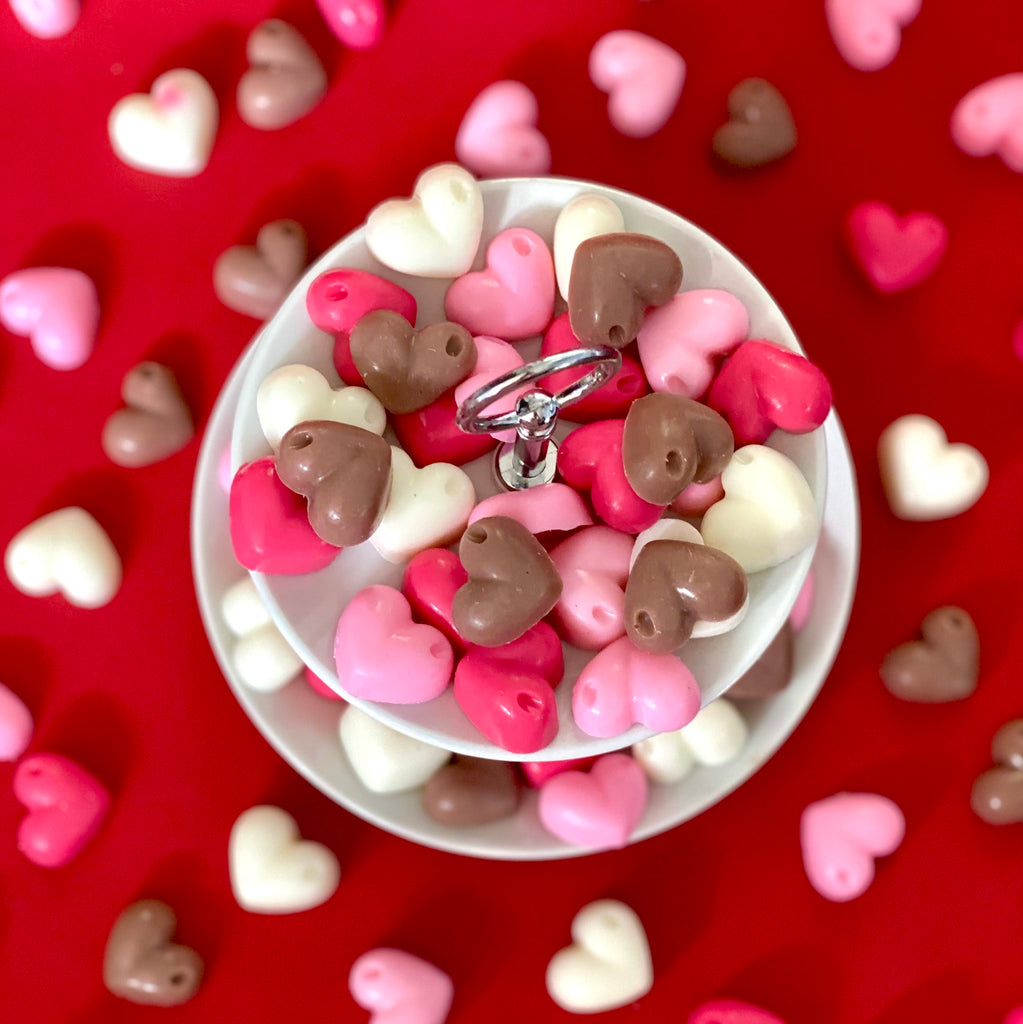 Mini Chocolate Heart Soaps