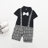 newborn baby romper short-sleeved navy  style three-color baby clothes infant baby  overalls ropa bebe
