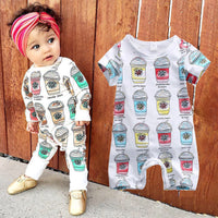 2016 New Cute Baby Romper 0-24M Newborn Infant Toddle Kids Long Sleeve Ice Cream Jumpsuit One Pieces Bebes Boys Girls Clothes
