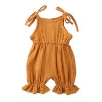 Newborn Infant Romper Baby Girls Costumes 6 Colors Cotton and linen Baby Jumpsuit 2019 Summer 0-2Years Baby Romper For Bebes