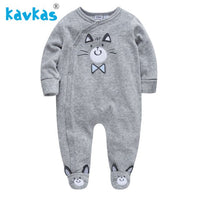 Hoodies Baby Romper Bear Embroidery Baby Clothing Unisex Newborn Rompers Full Sleeve Fantasia Bebes Baby Girls Clothes Suit