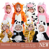 Cute Infant Romper Baby Boys Girls Jumpsuit New born Bebe Clothing Hooded Toddler Baby Clothes Cute Fox Cow Romper