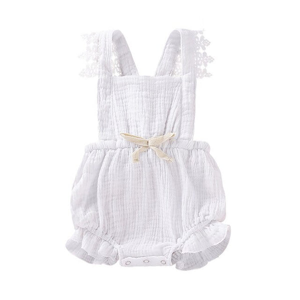 Newborn Solid One Pieces Clothes Summer Outfits 2019 Baby Girl Lace Backless Romper Jumpsuit Outfits Baby girl Bebe Clothes