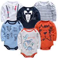 2020 Baby Bodysuit Long Sleeve Spring Autumn Girls Boys Clothes Body bebe Cartoon Printed 0-24 months Newborn Infant Outwear