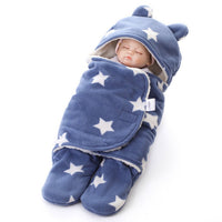 Baby Blankets Newborn Double Layer Polar fleece Infant Swaddle Bebe  Wrap Newborn Baby Bedding Blanket Bebe Sleeping Bags