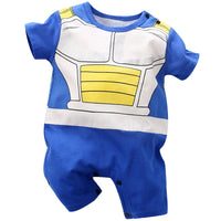 New born Baby Clothes Baby Boys Romper Tiny Cotton Dragon Ball Vegeta Jumpsuits Newborn Infant Cartoon Toddler Bebe Onesie