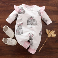 Newborn Baby Girl Romper 100% Cotton Infant Toddler Girls Costumes Cute Rabbit Onesie Long Sleeve Jumpsuit Ropa Bebe  Clothes