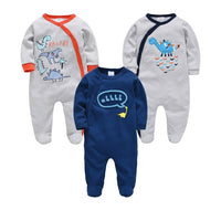 2020 3 pcs/set Summer Newborn Baby Boy Clothes 100% Cotton ropa bebe Infant Pajamas Romper 0-12m Spring Outfits