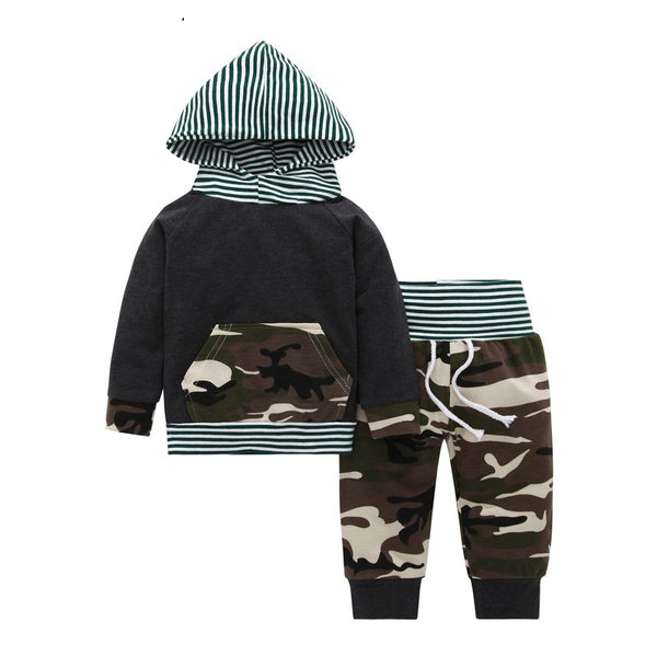 COSPOT Baby Boys Clothing Set Children Camo Suit Hoodies+Pants Kids Hooded Outfit Bebes Pullover & Joggers Baby Boy Clothes 25