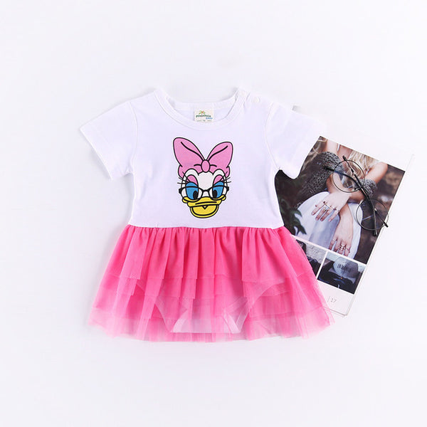 Disney baby girl clothes girls dress baby romprs cartoon newborn clothes infant bebe jumpsuit Donald Duck baby girl romper